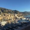 Blick aus dem Hotel über den Jachthafen von Monaco